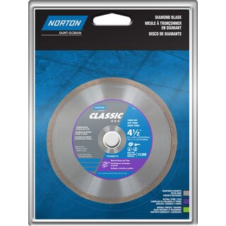 "Norton 01194 4-1/2"" Portable Continuous Rim Diamond Blade"
