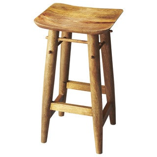 Butler Lotus Brown Wood Bar Stool