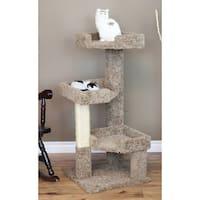 New Cat Condos Solid Wood 46-inch Triple Kitty Pad Cat Tree
