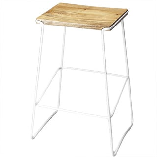 Butler Parrish Wood and Metal Bar Stool