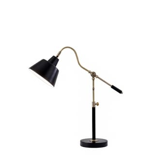 Catalina Lighting 19944-001 Antique Brass and Matte Black Metal 26-inch Adjustable Desk Lamp (Bulb Included)