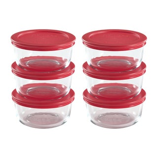 Pyrex Clear Glass 6-piece 2-cup Food Storage Set with Lids