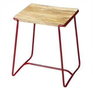 Butler Parrish Wood and Metal Stool