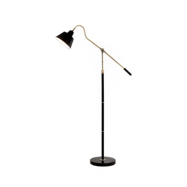 Catalina Lighting 19945-001 Antique Brass/Matte Black Brass 60.25-inch Adjustable Floor Lamp