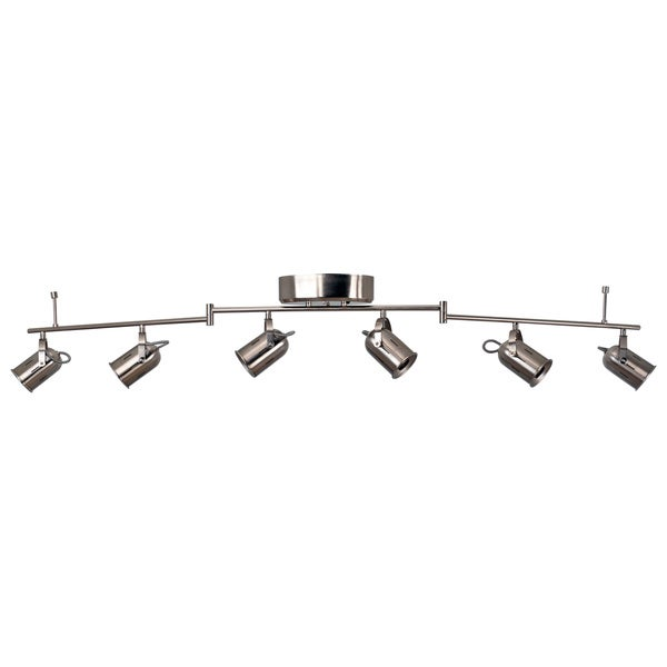 Catalina 19808 000 Nickel 6 Light Integrated Led Track Luminaire