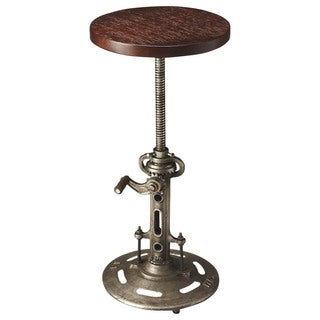 Butler Everson Brown Wood and Metal Bar Stool