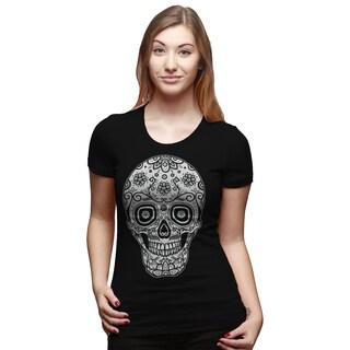 Women's Sugar Skull Cool Mexican Cinco de Mayo Holiday Drinking T-shirt