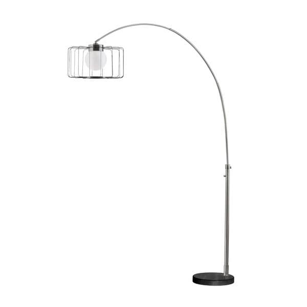 Nova Lighting Watson Antique Nickel Steel Arc Lamp