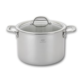 Tri-ply Stainless Steel 8-quart Stock Pot and Lid