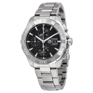 Link to Tag Heuer Men's CAY2110.BA0927 'Aquaracer' Chronograph Automatic Stainless Steel Watch Similar Items in Men's Watches