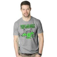 Men's 'Screw Lab Safety I Want Superpowers' Nerdy Science T-shirt