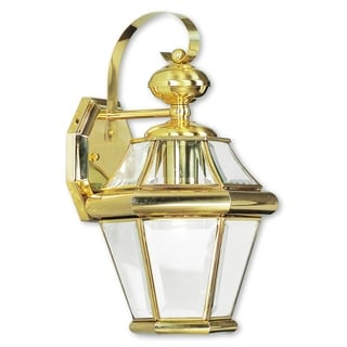 Livex Lighting Georgetown Polished Brass 1-light Outdoor Wall Lantern