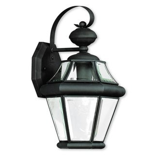 Livex Lighting Georgetown 1-light Black Outdoor Wall Lantern