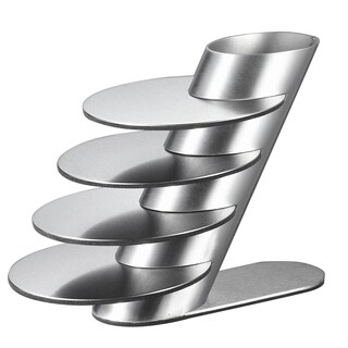 Visol Remy Stainless Steel Round Coaster Set with Holder