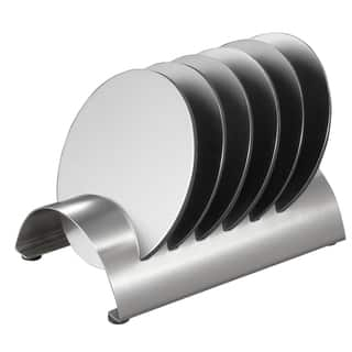 Visol Julian Stainless Steel Round Coaster Set with Holder https://ak1.ostkcdn.com/images/products/12037668/P18909324.jpg?impolicy=medium