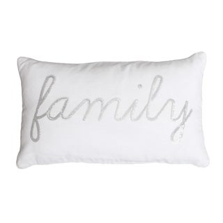 Feris Family Polyester Sequined Feather-filled Throw Pillow