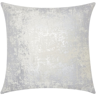 Mina Victory Luminescence Distressed Metallic Silver Throw Pillow by Nourison (20 x 20-inch)