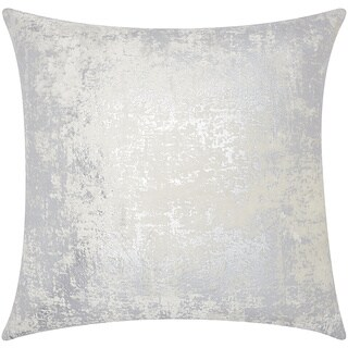 Mina Victory Luminescence Distressed Metallic Silver Throw Pillow by Nourison (20-Inch X 20-Inch)