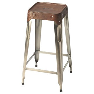 Butler Connor Iron/Leather Counter-height Barstool