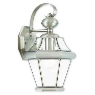 Livex Lighting Georgetown Brushed Nickel 1-light Outdoor Wall Lantern