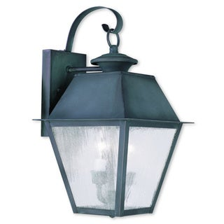 Livex Lighting Mansfield Charcoal 2-light Outdoor Wall Lantern