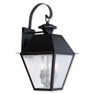 Livex Lighting Mansfield Bronze 3-light Outdoor Wall Lantern