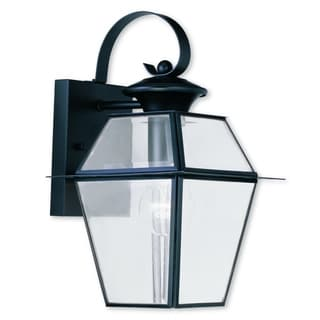 Livex Lighting Westover Black Brass 1-light Outdoor Wall Lantern