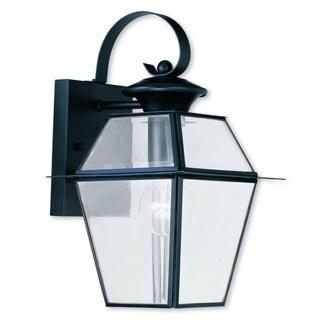 Livex Lighting Westover Black Brass 1-light Outdoor Wall Lantern