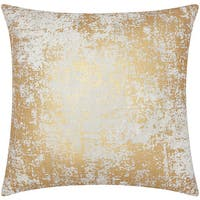 Mina Victory Luminescence Distressed Metallic Gold Throw Pillow by Nourison (20-Inch X 20-Inch)