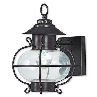 Livex Lighting Harbor Bronze Brass 1-light Outdoor Wall Lantern