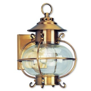 Livex Lighting Harbor Flemish Brass 1-light Outdoor Wall Lantern
