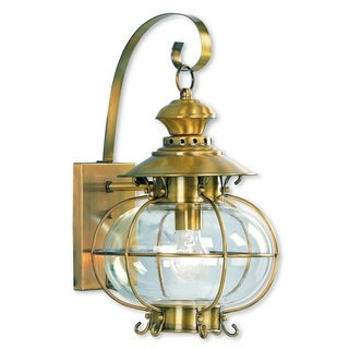 Livex Lighting Harbor Flemish Brass 1-light Outdoor Wall Lantern