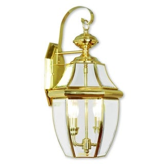 Livex Lighting Monterey Polished Brass 2-light Outdoor Wall Lantern