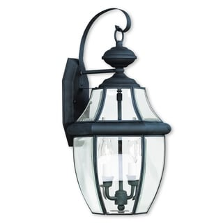 Livex Lighting Monterey Black Brass 2-light Outdoor Wall Lantern