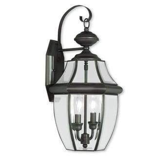 Livex Lighting Monterey Bronze 2-Light Outdoor Wall Lantern