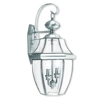 Livex Lighting Monterey 2-light Brushed Nickel Outdoor Wall Lantern