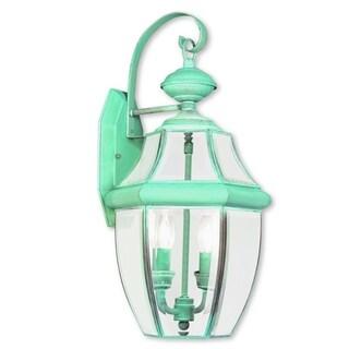 Livex Lighting Monterey Verdigris Green Brass 2-light Outdoor Wall Lantern