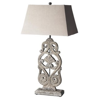 Butler Cathedral Grey-finish Table Lamp