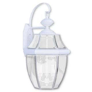 Livex Lighting Monterey White 3-light Outdoor Wall Lantern