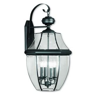Livex Lighting Monterey Black Brass 4-light Outdoor Wall Lantern