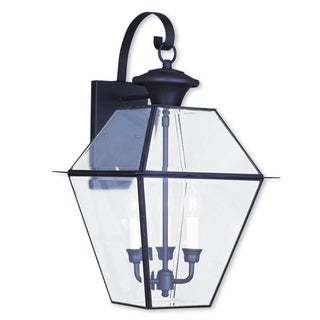 Livex Lighting Westover Bronze Finish 3-light Outdoor Wall Lantern