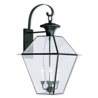 Livex Lighting Westover 4-light Black Outdoor Wall Lantern
