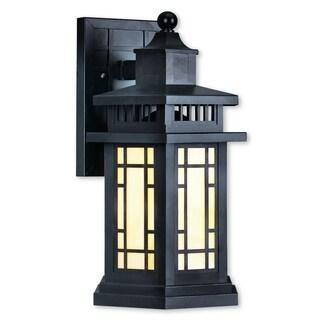 Livex Lighting Mirror Lake Bronze 1-light Outdoor Wall Lantern