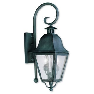 Livex Lighting Amwell Black Brass 2-light Outdoor Wall Lantern