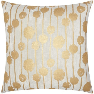 Mina Victory Luminescence Metallic Dandelions Gold Throw Pillow by Nourison (20 x 20-inch)