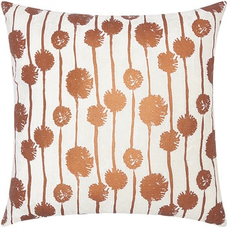 Mina Victory Luminescence Metallic Dandelions Copper Throw Pillow by Nourison (20 x 20-inch)