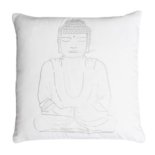 Thro by Marlo Lorenz Gold/Silver/White Polyester 20-inch x 20-inch Buddha Sequined Feather-filled Throw Pillow