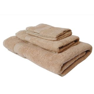 Tan 100-percent Cotton 3-Piece Towel Set