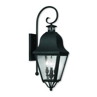 Livex Lighting Amwell Black 3-light Outdoor Wall Lantern