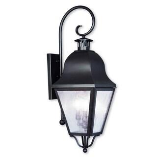 Livex Lighting Amwell Bronze 3-light Outdoor Wall Lantern